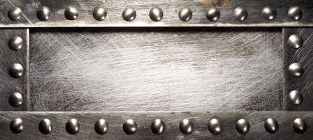 Metalen plaat textuur met klinknagels