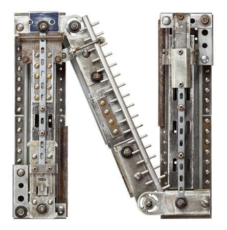metal alphabet: Industrial metal alphabet letter N