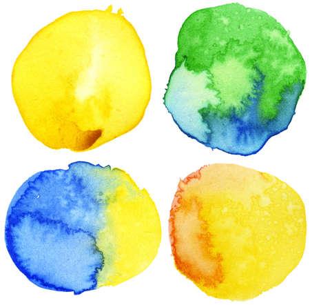 Watercolor circle shape backgrounds Stock Photo
