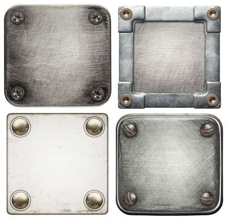 Metal plate textures with screws  photo