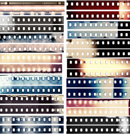 hardcore: Design elements set, film borders.