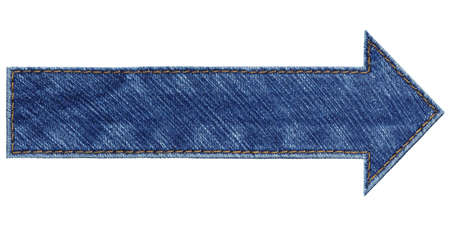 Blue jeans arrow, isolated Stock Photo - 16406895
