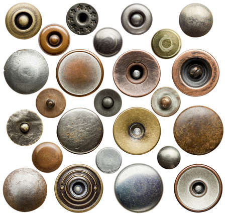 Metal jeans buttons and rivets collection. Stock Photo - 16406902