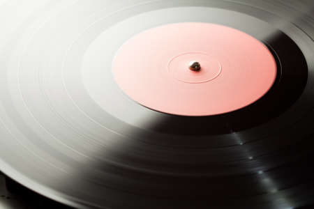 Spinning vinyl record  Motion blur image Stock Photo - 17095589