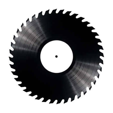 Vinyl record with circular saw blade edges Stock Photo - 17095556