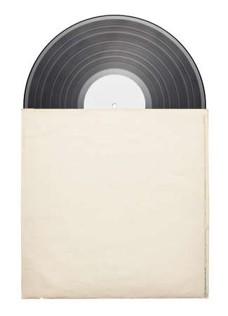 Old vinyl record in a paper case Stock Photo - 17095587