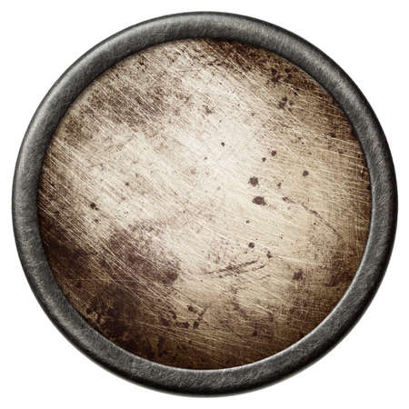 Vintage background  Aged metal texture in a round frame  Stock Photo - 17095631
