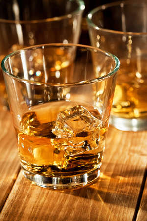 Whiskey on the rocks  Stock Photo - 17095630
