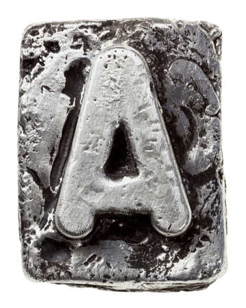 Metal alloy alphabet letter A photo