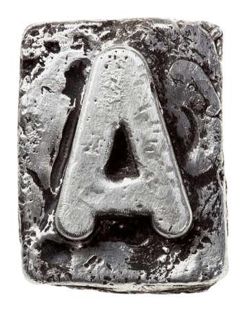 silver alloy: Metal alloy alphabet letter A