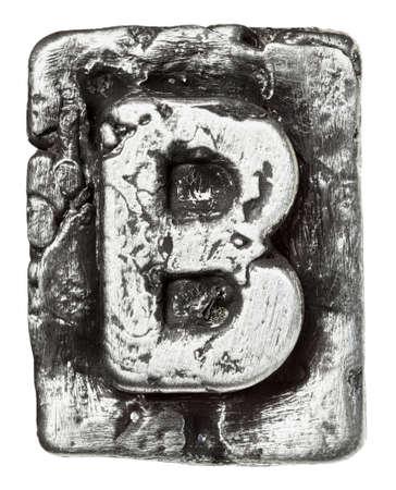 Liga de metal alfabeto letra B