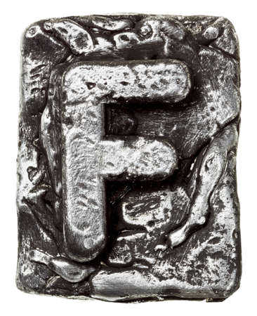 Metal alloy alphabet letter F Stock Photo - 17095669