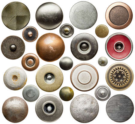 Metal jeans buttons and rivets collection  Stock Photo - 17095673