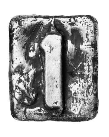 Metal alloy alphabet number 1 Stock Photo - 17354064