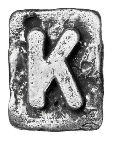 Metal alloy alphabet letter K Stock Photo - 17354133