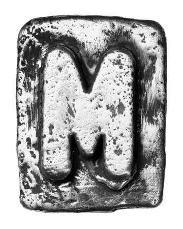 Metal de liga de letra do alfabeto M