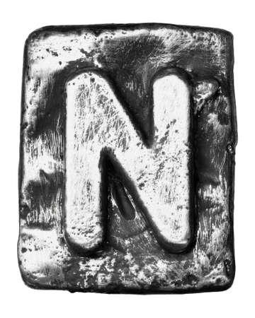 alloy: Metal alloy alphabet letter N