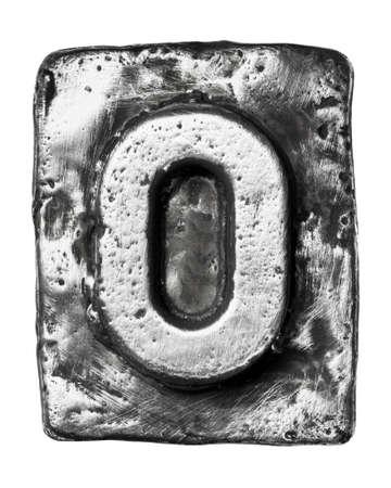 letras cromadas: Aleación de metal alfabeto letra O