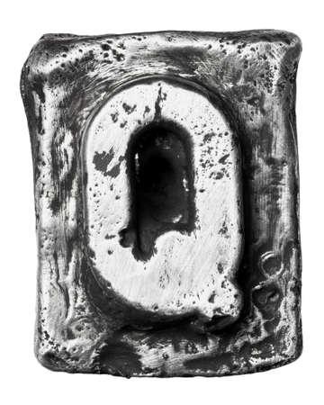 Metal alloy alphabet letter Q Stock Photo - 17354076