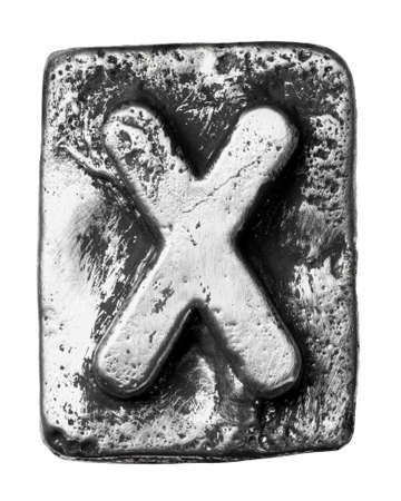 Metal alloy alphabet letter X Stock Photo - 17354080