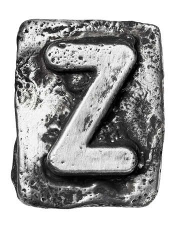 Metal alloy alphabet letter Z photo