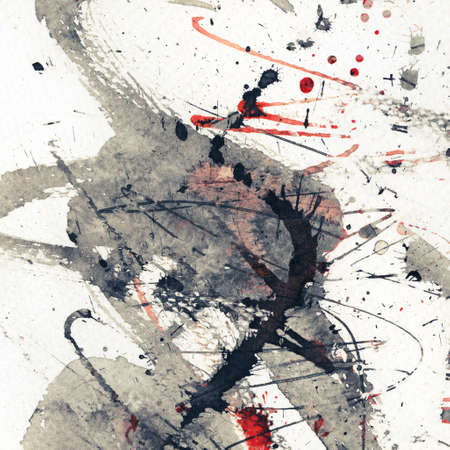 Abstract grunge background, ink texture. Stock Photo - 17543406
