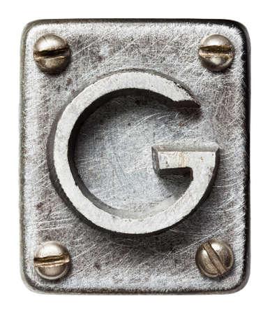 Alfabeto metal velho letra F Banco de Imagens