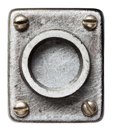 rust: Old metal alphabet letter O