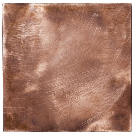 Copper plate textures, old metal backgrounds, isolated photo