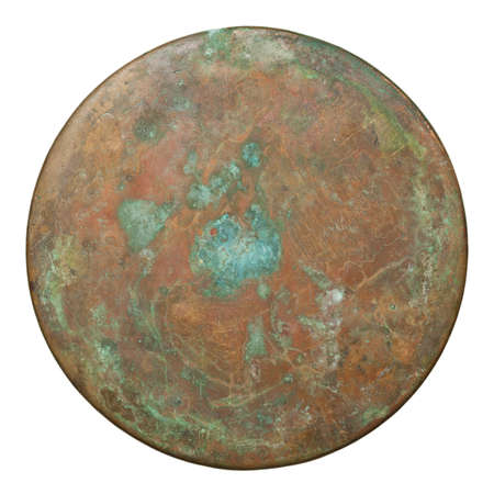 Round copper plate texture, old metal background  Stock Photo - 17977294
