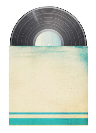 vinyl: Old vinyl record in a paper case