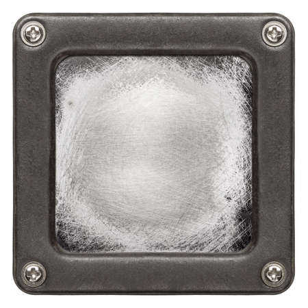 Metal plate texture in a frame photo