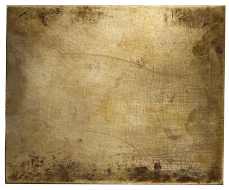 Brass plate texture, old metal background. Stock Photo - 18356737