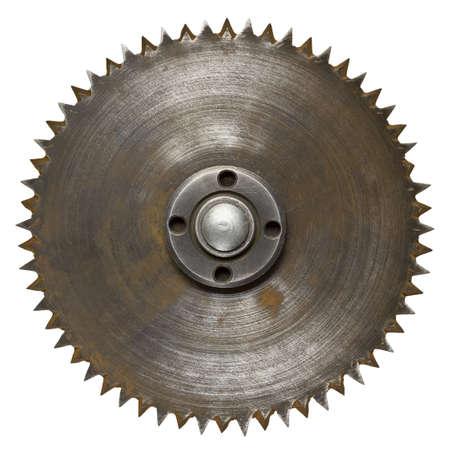 Old rusty circular saw blade photo