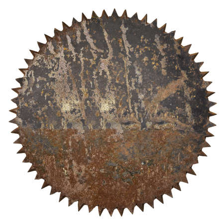 Old rusty circular saw blade background without hole  photo
