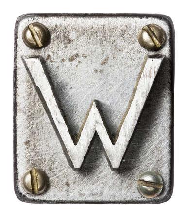 oxidado: Antiguo metales alfabeto letra W
