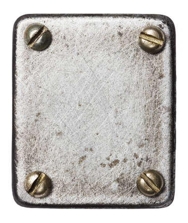 Metal plate texture with screws