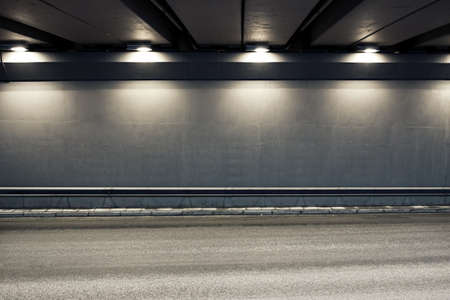 Tunnel road area with spotlights Stock Photo - 18654118