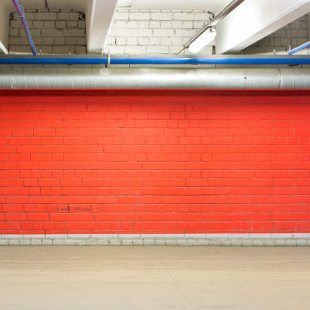 Empty parking lot wall, floor and ceiling. Stock Photo - 18654113