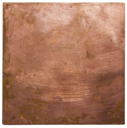 METAL BACKGROUND: Copper plate texture, old metal background.