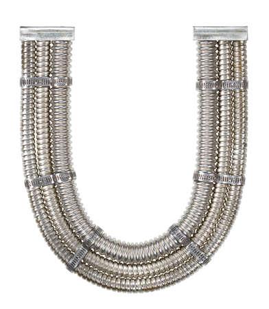 Industrial metal alphabet letter U Stock Photo - 18985146