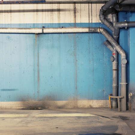 Leere Lager Wand, kann als Hintergrund in der Industrie verwendet werden