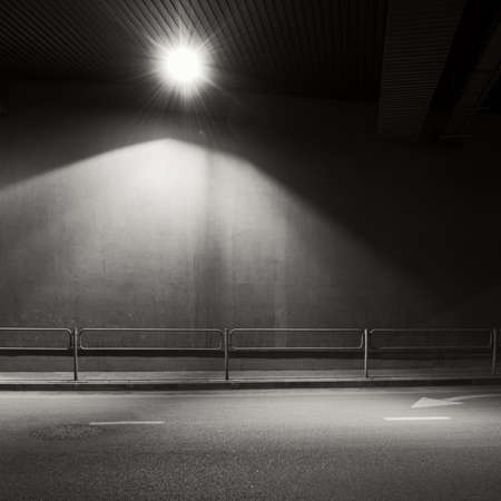 parking garage: Tunnel road area with spotlight