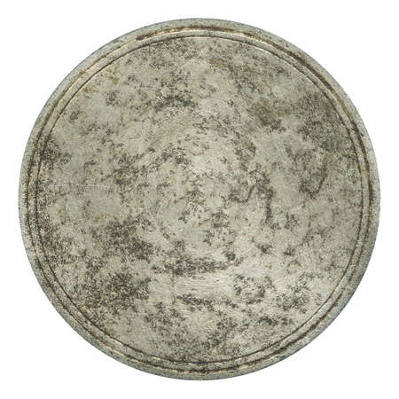 scratched metal: Old round metal plate texture