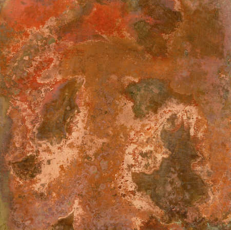 Copper plate texture, old metal background  photo