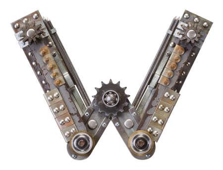 industriale: Industriale metallo alfabeto lettera W
