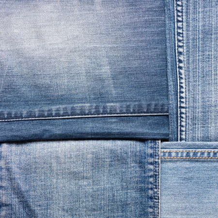 Blue denim jeans texture, background Stock Photo