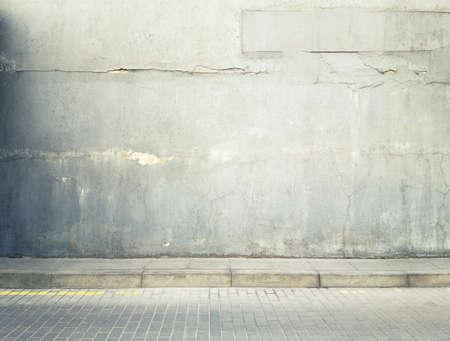 Edad calle la pared de fondo, la textura Foto de archivo