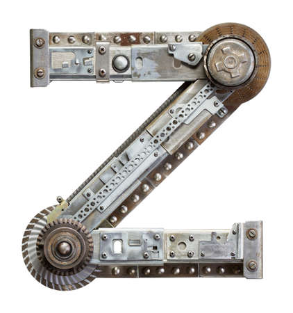 Industrial metal alphabet letter Z photo