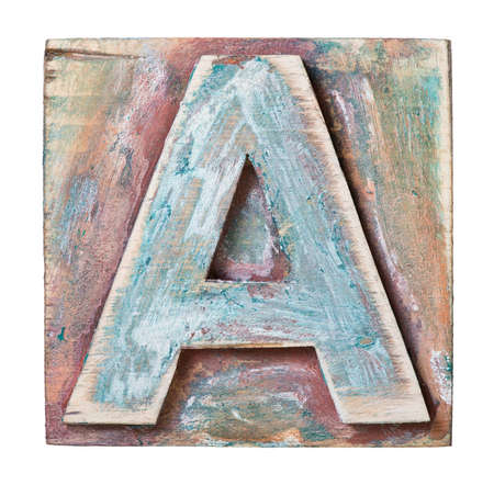 Wooden alphabet block, letter A